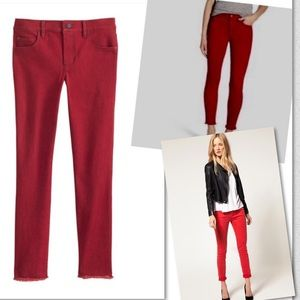 Ann Taylor Jeans - ANN TAYLOR THE SKINNY RED FRAYED JEANS SZ 2